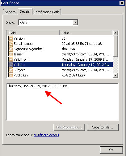 Citrix XenServer and StorageLink SSL cert error caused by expired SSL certificate