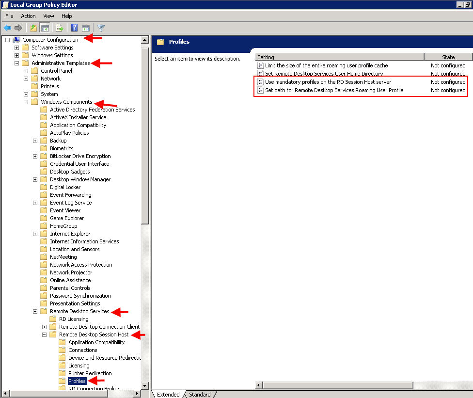 mandatory profile If you intend to place citrix profile management roaming profiles in the user's home directory, then there is no need to follow the procedure in this section i am not sure if mandatory profiles would help in that case.